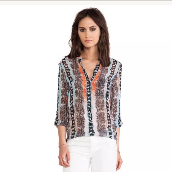 c2fc4328841e93 Diane Von Furstenberg Tops - Diane Von Furstenberg Silk Gilmore Shirt Top 4